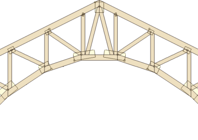 Truss types prairie truss for Barrel roof trusses